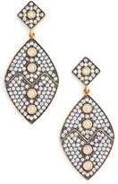 Freida Rothman Contemporary Deco Cubic Zirconia Drop Earrings