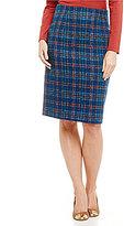 Pendleton Plaid Boucle Pencil Skirt