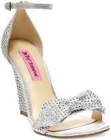 Betsey Johnson Delancyy Wedge Evening Sandals