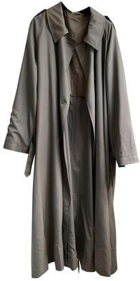Celine Grey Wool Trench Coat for Women