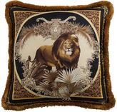 Versace William Lion Printed Silk Accent Pillow