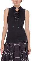 Akris Punto Women's Lace-Up Stretch Cotton Tank