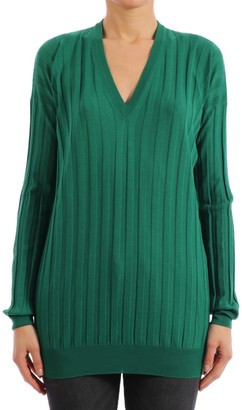 Plan C Virgin Wool Sweater Emerald