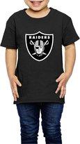 Hera-Boom-Child Oakland Raiders Football Logo Kids Shirts 4 Toddler (2-6 Toddler)