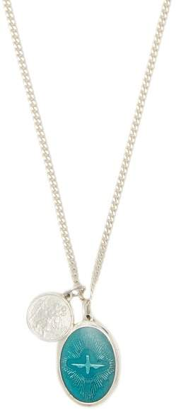 Miansai Jewel Pendant Sterling Silver Necklace - Mens - Silver
