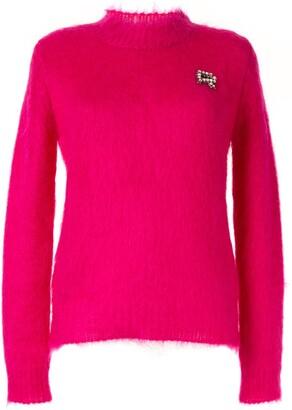 Rochas embellished knitted jumper