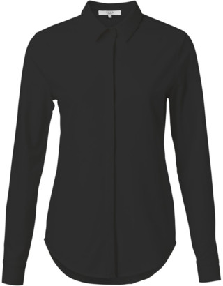 Ya-Ya Cotton Blend Shirt with Concealed Closure in Black 1109150 - 34 | black | cotton - Black/Black