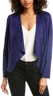 Anne Klein Suede Drape-Front Jacket