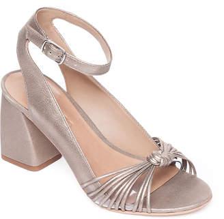Bernardo Nadia Metallic Knotted Block-Heel Sandals