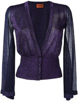 Missoni fitted waist cardigan - women - Polyester/Cupro/Viscose - 38