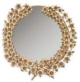 Safavieh Bella Flower Mirror in Antique Brass
