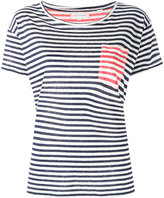 Chinti and Parker contrast pocket striped T-shirt - women - Linen/Flax - XS