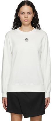Dolce & Gabbana White Embroidered Crest Sweatshirt