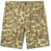 Rag & Bone Camouflage-Print Cotton-Canvas Shorts