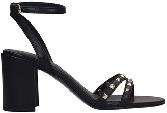 Ash Janis 01 Sandals In Black Leather