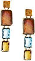 Ippolita 18k Gold Rock Candy Gelato Rectangular 4-Stone Linear Drop Earrings in Beverly