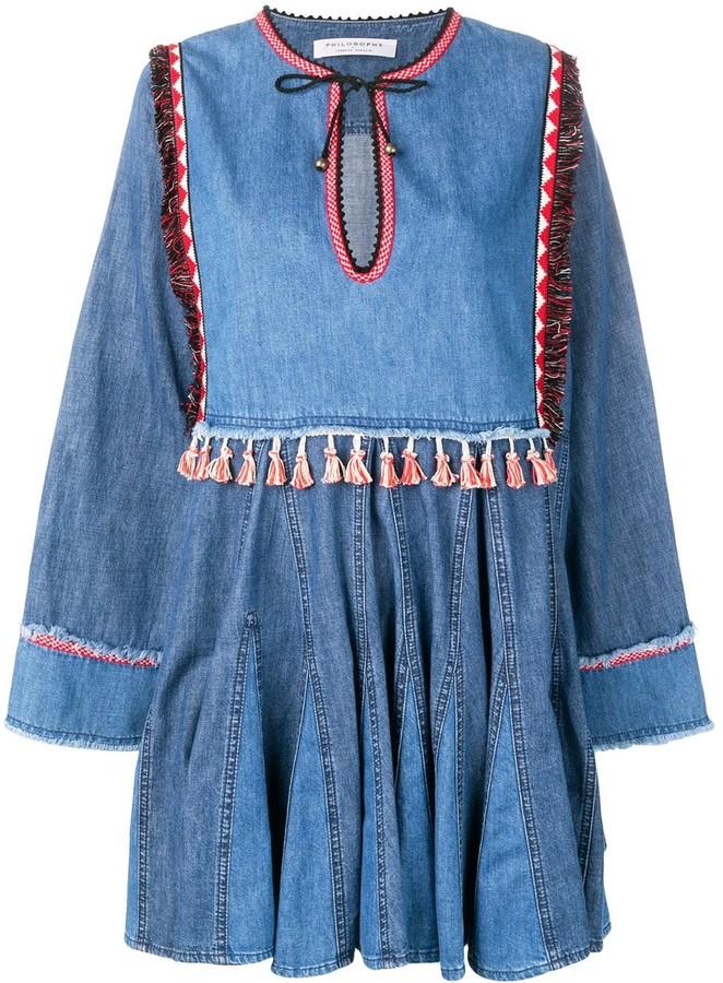 Philosophy di Lorenzo Serafini Tassel Detail Dress