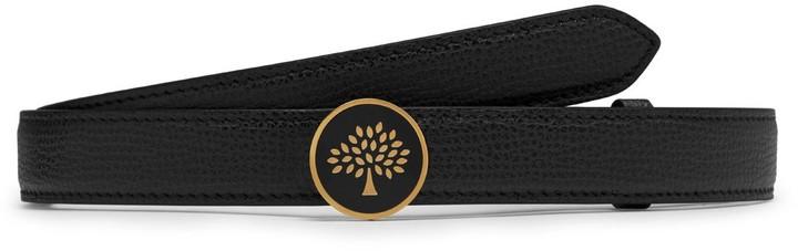 Mulberry Tree Belt Black Cross Grain Leather
