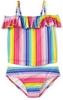 Gap Stripe off-shoulder swim two-piece