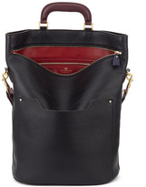 Anya Hindmarch ORSETT TOP HANDLE SMALL IN BLACK VINTAGE CALF