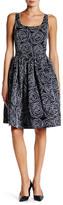 Oscar de la Renta Sleeveless Scoop Neck Full Skirt Silk Dress