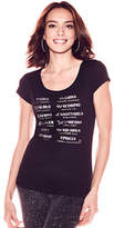 New York & Co. Rhinestone & Metallic Foil Astrological Sign Graphic Logo Tee