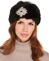 Surell Embellished Real Rabbit Fur Headband