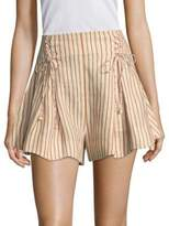 Zimmermann Painted Heart Lace-Up Shorts