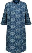 MiH Jeans Becca Ruffled Floral-Print Cotton-Chambray Shirt Dress