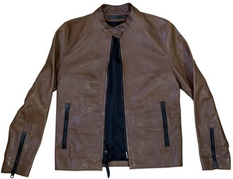 Coach Camel Leather Jackets