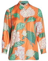 Thumbnail for your product : Lafayette 148 New York, Plus Size Ruxton Button-Up Silk Blouse
