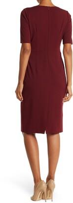 Donna Morgan Twist Neck Sheath Dress