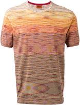 Missoni blurry stripe T-shirt - men - Cotton - 46