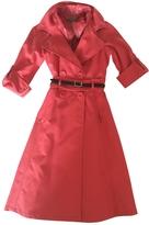 Max Mara Red Cotton Coat