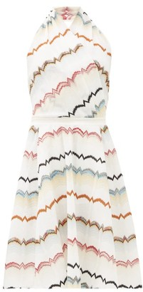 Missoni Halterneck Cotton-blend Midi Dress - Womens - White Multi