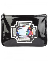 Pierre Hardy printed gem clutch