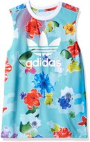 adidas Big Girls' Flower Long Tank