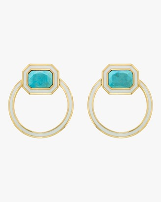 Isharya Chakra Turquoise Shadow Loop Earrings