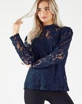 Fashion Union Long Sleeved Lace Blouse