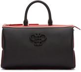 Emilio Pucci Black & Red Leather Logo Bag