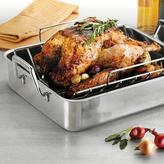Tramontina Gourmet Prima 16.5 in. Roasting Pan with Basting Grill and V-Rack