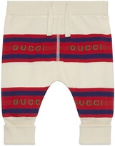 Thumbnail for your product : Gucci Baby striped cotton leggings