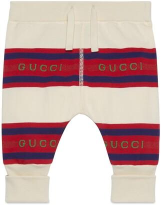 Gucci Baby striped cotton leggings