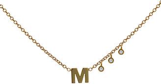 Meira T 14K Diamond Initial A-Z Necklace