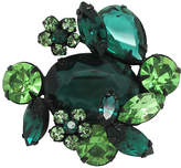 One Kings Lane Vintage Regency Green Glass Flower Brooch