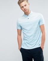 BOSS ORANGE by Hugo Boss Stripe Polo Shirt in Blue Marl