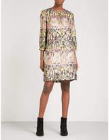 Etro Boat-neck metallic paisley-jacquard dress