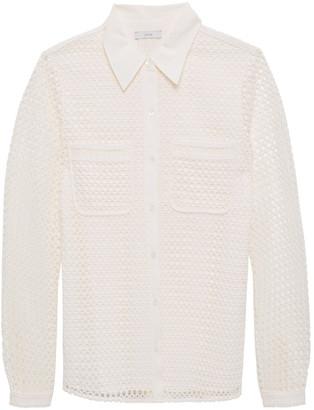 Joie Merredin Guipure Lace Shirt