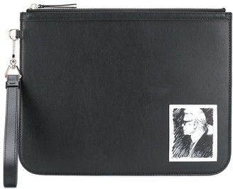 Karl Lagerfeld Paris Legend luxury clutch bagtop