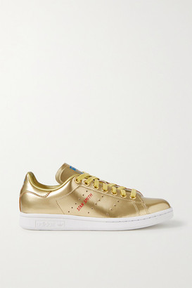 adidas Stan Smith Metallic Leather Sneakers - Gold